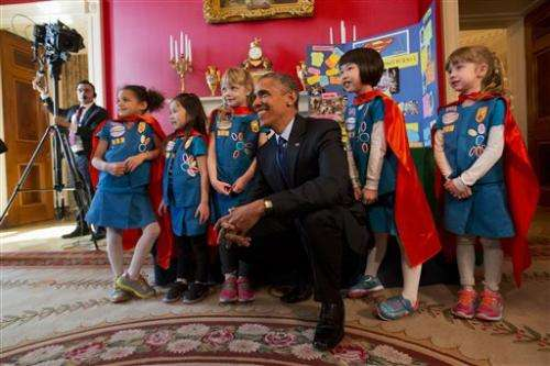 Obama, wowed by young scientists, announces new STEM pledges