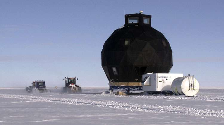 Research station moved nearly 500 km across the Greenland ice sheet