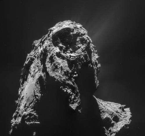 "Rosetta gets a peek at Comet 67P's ""underside"""