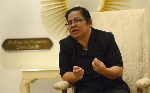 Special Envoy of Kiribati, Teekoa Luta speaks during an interview with AFP in Jaipur