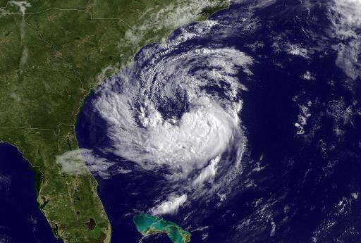 This NOAA satellite image was taken by GOES East at 1245Z on May 8, 2015, shows Subtropical Storm Ana, expected to move toward t