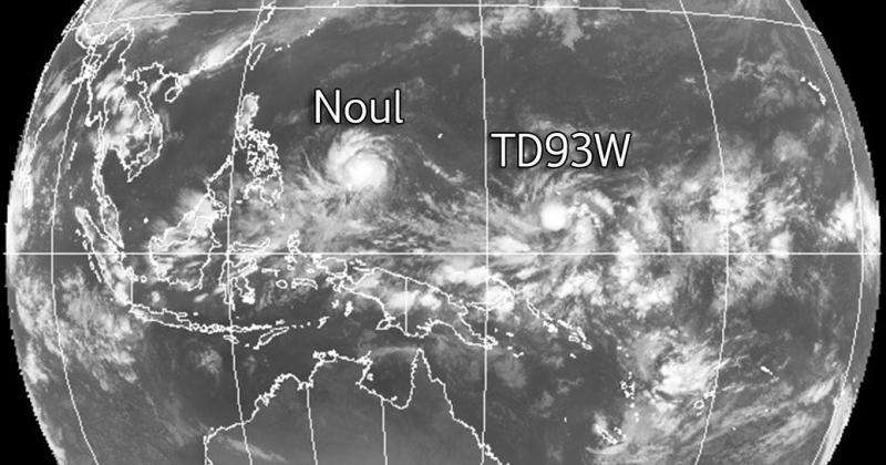Tropical Depression 93W forms near Micronesia