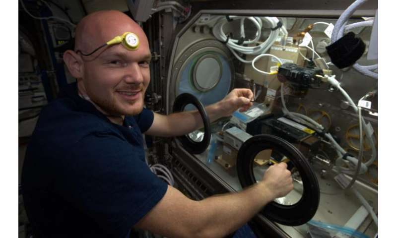 What happens to an astronaut's body temperature in space?