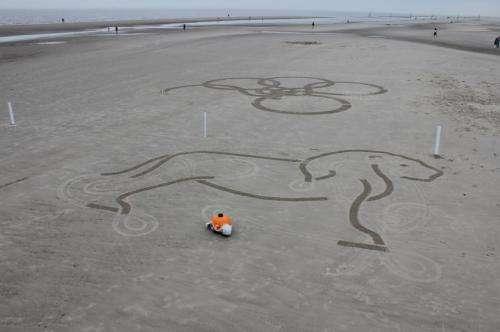 Zurich team's beach robot draws art in the sand