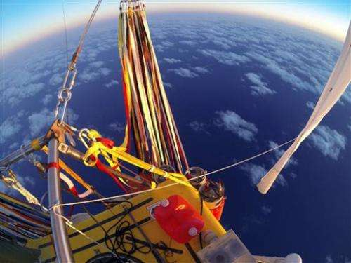 Historic balloon flight ends off Mexican coast