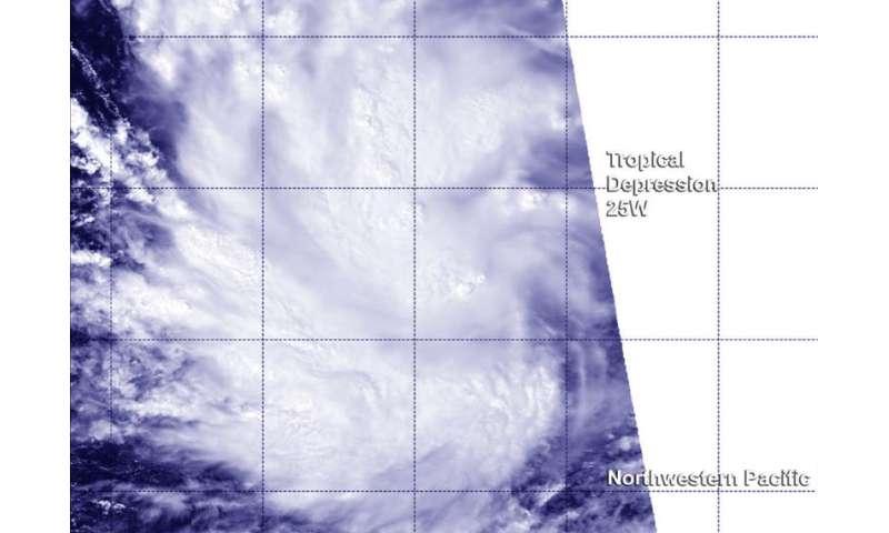 NASA-NOAA's Suomi NPP spots twenty-fifth tropical depression in Northwestern Pacific