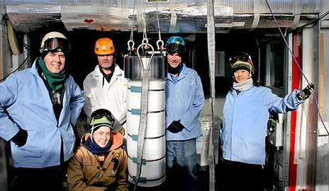 Searching for extragalactic neutrinos and dark matter in the Antarctic Ice