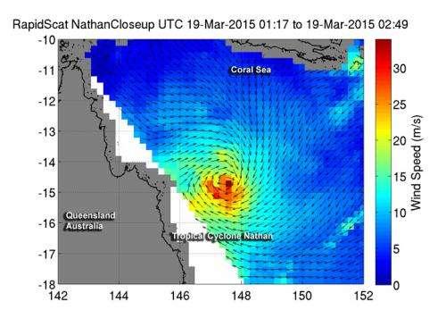 NASA sees Tropical Cyclone Nathan crossing Cape York Peninsula