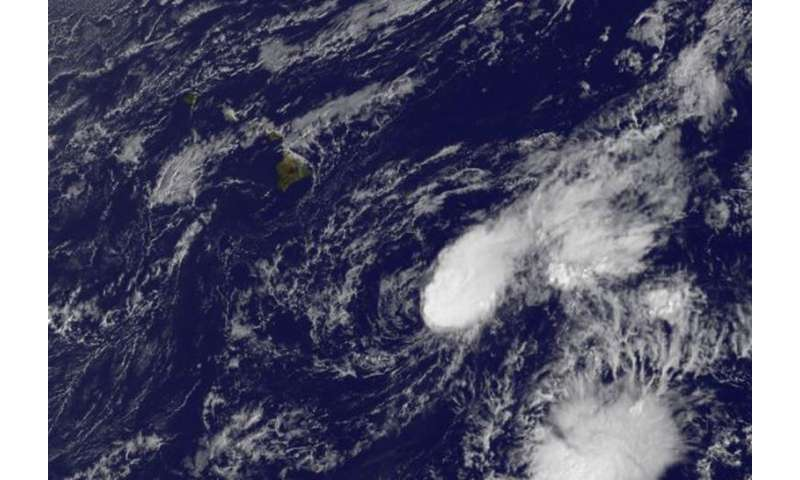 Satellite sees wind shear battering Tropical Depression Nora