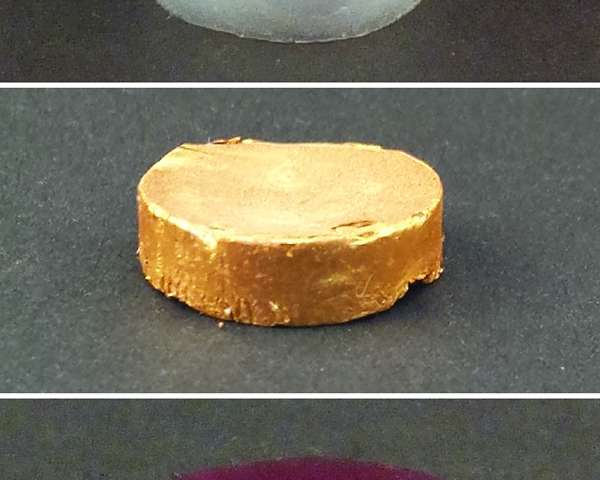 A new form of real gold, almost as light as air