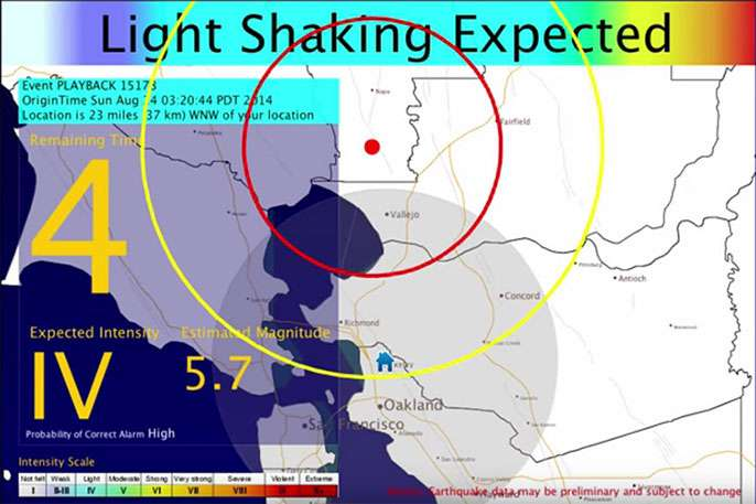 Earthquake early warning system moves closer to reality