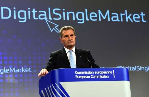 European Commissioner for Digital Economy and Society Gunther Oettinger insists the EU is not discriminating against US tech fir
