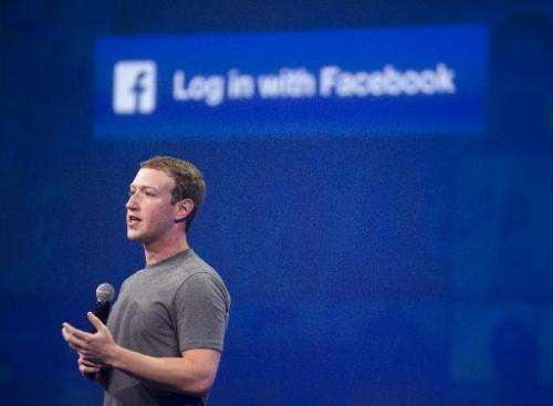 Facebook CEO Mark Zuckerberg speaks at the F8 summit in San Francisco, California, on March 25, 2015