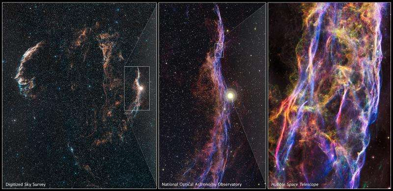 Hubble captures spectacular images of Veil Nebula
