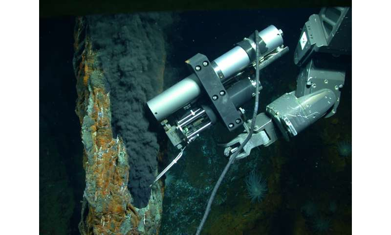 Making organic molecules in hydrothermal vents in the absence of life