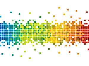Nanostructure design enables pixels to produce two different colors
