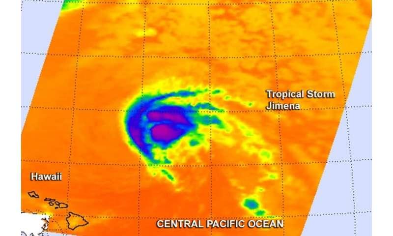 NASA sees wind shear affecting Tropical Storm Jimena