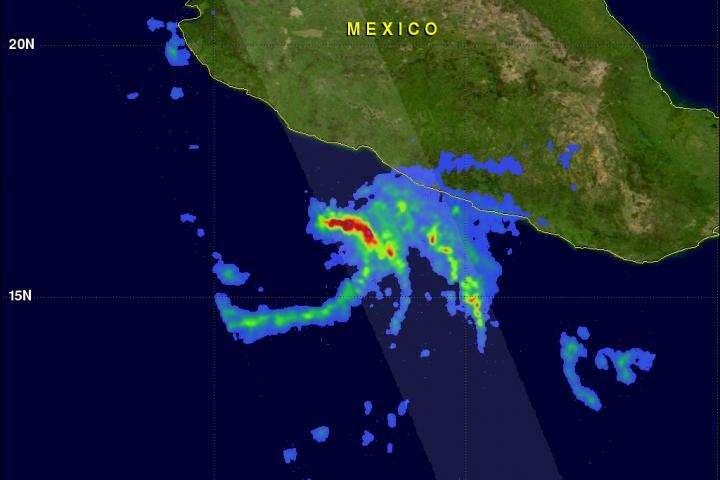 NASA's GPM analyzes rainfall in Tropical Storm Marty