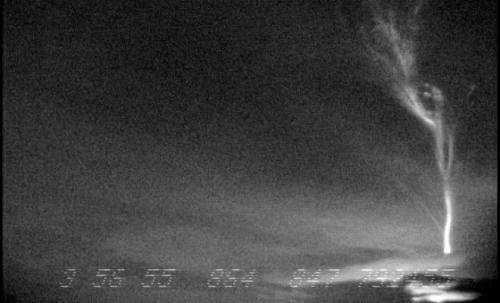Researchers get rare lightning video