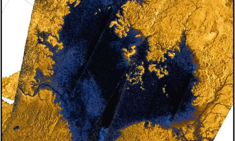 Titan's surface dissolves like sinkholes on Earth