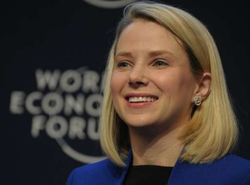 Yahoo CEO Marissa Mayer, pictured on January 22, 2014, is among the best-paid executives, with a package worth $42 million last