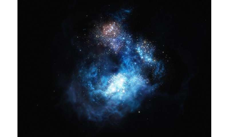 Scientists Discover Brightest Early Galaxy and Likely First Generation Stars