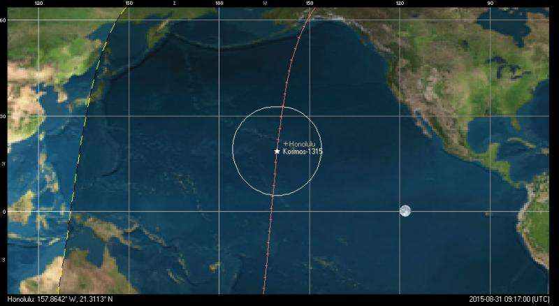 A fiery end for Kosmos 1315 over Hawaii