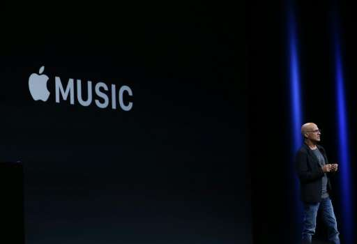 Jimmy Iovine announces Apple Music on June 8, 2015 in San Francisco, California