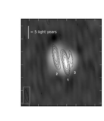 Radio astronomers see black hole come to life