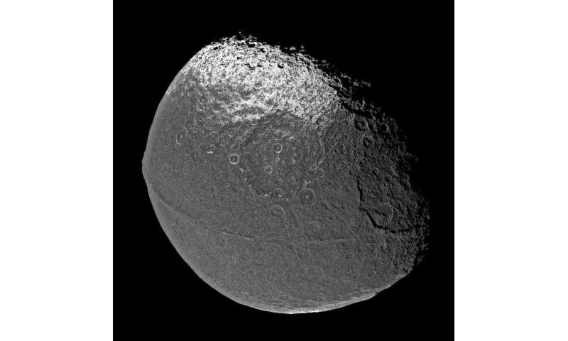 "Saturn's ""Yin-Yang"" moon Iapetus"