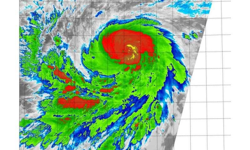 Suomi NPP satellite sees rapidly intensifying Hurricane Jimena