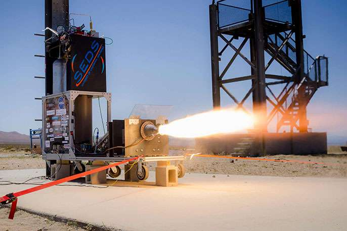 3-D printed rocket engine aims for flight record