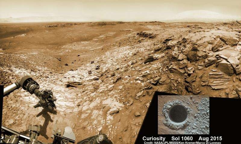 Curiosity snaps belly selfie at Buckskin Mountain base drill site