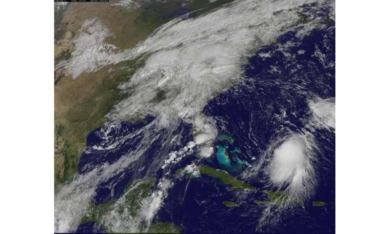 NASA sees wind shear affecting Tropical Storm Joaquin