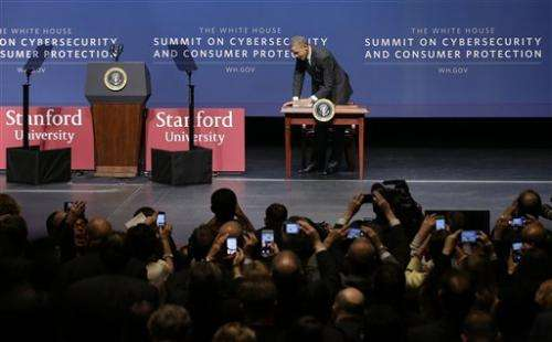 Obama focuses on cybersecurity in heart of Silicon Valley (Update)