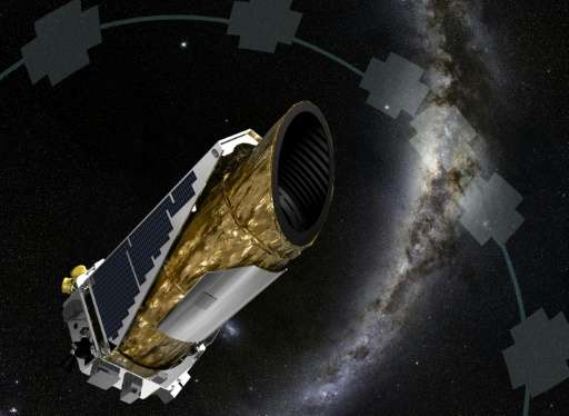 This NASA artist concept obtained on December 19, 2014 shows NASA's planet-hunting Kepler spacecraft operating in a new mission