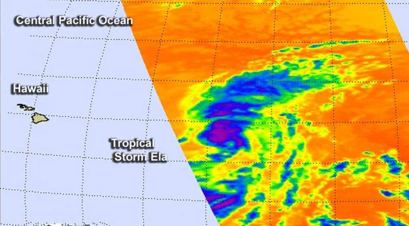 Tropical Storm Ela becomes the Central Pacific's first named storm