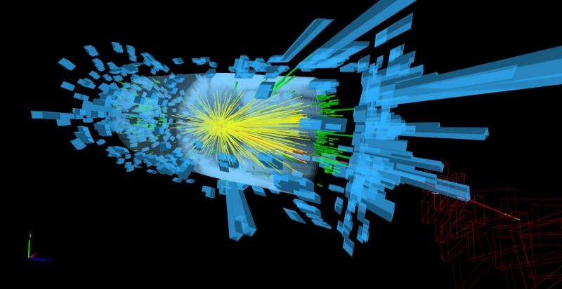 Event displays in particle physics