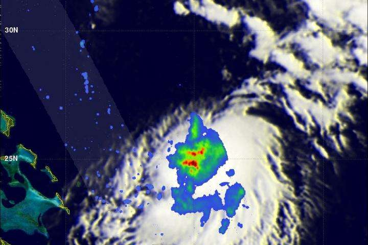 NASA's GPM sees Tropical Storm Joaquin form in western Atlantic