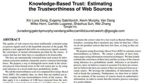 Google looking at ways to rate websites based more on trustworthiness