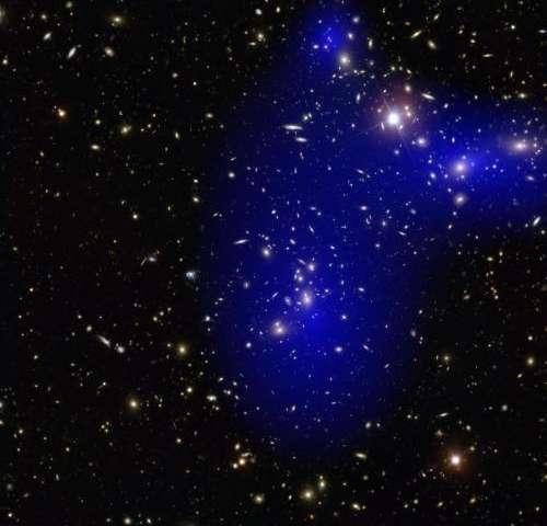 Galaxy clusters collide; dark matter still a mystery