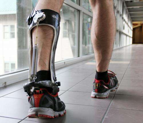 Springing ahead of nature: Device increases walking efficiency (w/ Video)