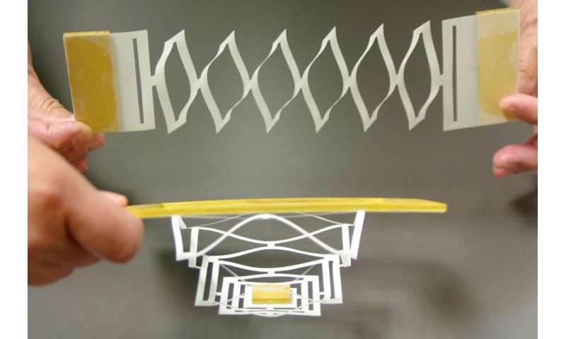 Like paper, graphene twists and folds into nanoscale machines