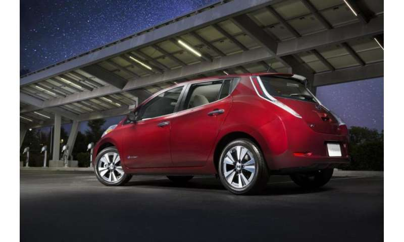 nissan 39 s 2016 leaf sv sl do 107 miles per battery charge. Black Bedroom Furniture Sets. Home Design Ideas