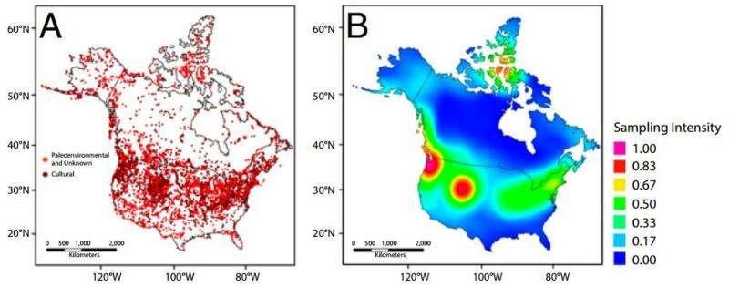 Data analysis yields striking maps of human expansion in North American Holocene