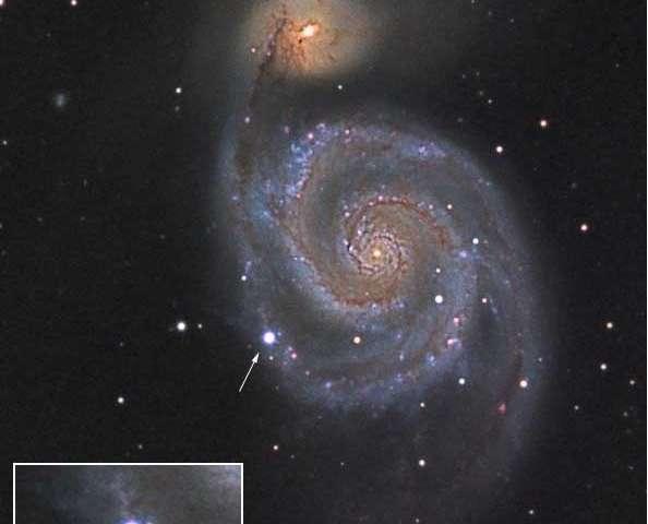Imaging an expanding supernova shell