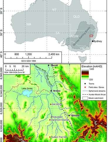 New research identifies a gap in sediments and questions simple groundwater models on the Liverpool Plains, NSW, Australia