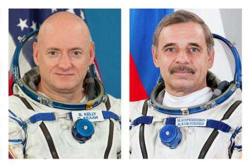 American, Russian leaving Earth for year at space station