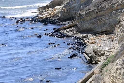 Efforts underway to scrub spilled oil from California coast (Update)