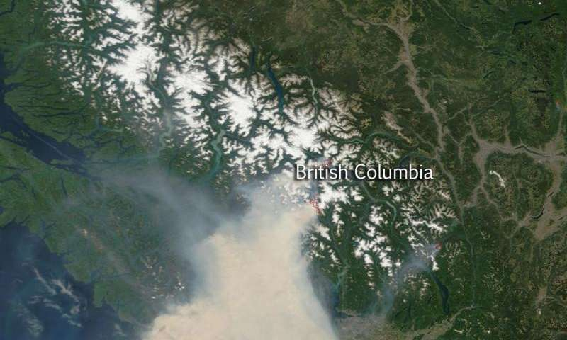 Satellite sees smoky skies over World Cup soccer